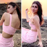 Mouni Roy sets perfect summer day style with her pastel pink crop top and skirt