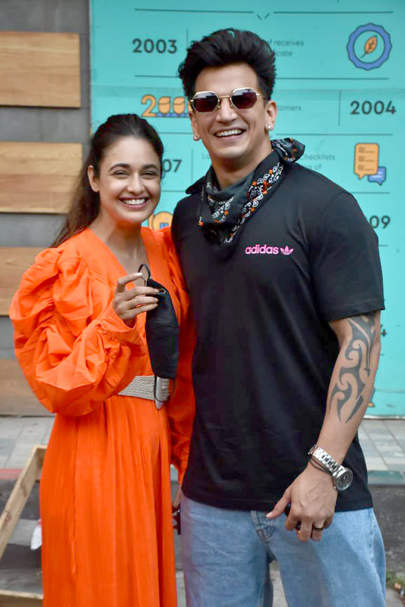 Prince Narula and Yuvika Chaudhary snapped in Andheri (2)