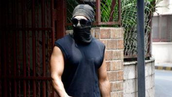 Ranveer Singh spotted at a dubbing studio in Bandra