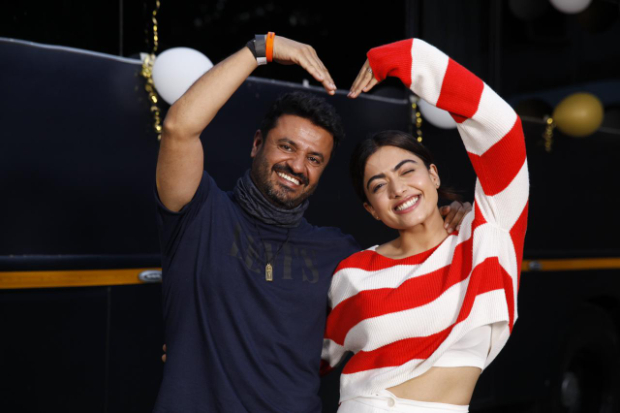 Rashmika Mandanna rings in her 25th birthday with Amitabh Bachchan and Vikas Bahl on Goodbye set