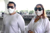 Spotted - Janhvi Kapoor, Govinda and his wife Sunita at Airport