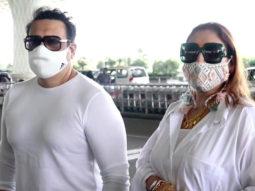 Spotted - Janhvi Kapoor, Govinda and his wife Sunita at Airport