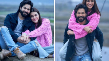 Varun Dhawan gives piggyback ride to Kriti Sanon as she wraps Arunachal Pradesh schedule of Bhediya