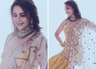 Madhuri Dixit is a ray of sunshine in embellished strappy kurta and gharara worth Rs. 65,000