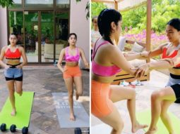 Young Bollywood stars Sara Ali Khan and Janhvi Kapoor turn work out buddies; watch video