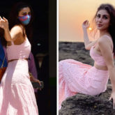 FASHION FACE-OFF: Mouni Roy or Daisy Shah – who stunned in pastel pink crop top and skirt better?