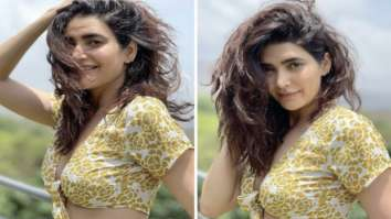 Karishma Tanna's crop top and print thigh-high slit skirt is a dreamy affordable summer outfit