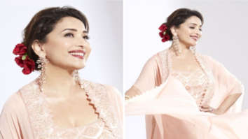 Madhuri Dixit looks ethereal in rose pink sharara as she shoots for Dance Deewane 3