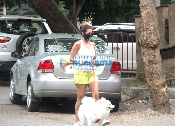 Photos Malaika Arora spotted with her pet for morning walk (4)