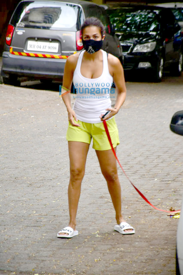 Photos Malaika Arora spotted with her pet for morning walk (5)