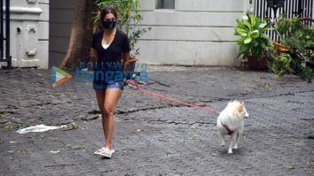 Photos: Malaika Arora spotted with her pet on a morning walk