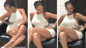 Rihanna debuts new hairstyle; flaunts her long less in mini white crochet dress
