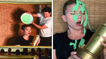 Scarlett Johansson gets slimed by husband Colin Jost while she receives Generation Award at MTV Movie and TV Awards 2021