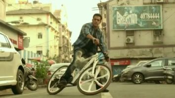 Salman Khan seen riding Being Human's BH27 e-bicycle for a chase sequence in Radhe – Your Most Wanted Bhai