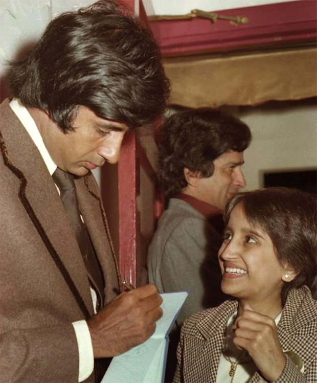 Amitabh Bachchan shares an adorable throwback picture with a little fan at the premiere of Kaala Patthar
