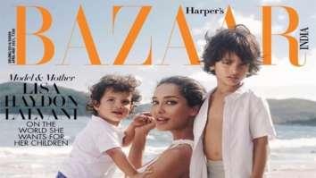 Lisa Haydon on the cover of Harper's Bazaar, April-May 2021