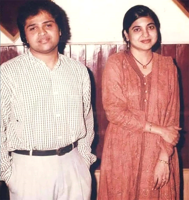 Himesh Reshammiya's picture from his younger days featuring Alka Yagnik goes viral on the internet