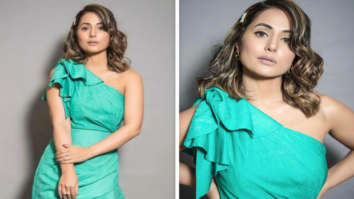 Hina Khan's asymmetric midi dress with one-shoulder detailing is a perfect summer outfit
