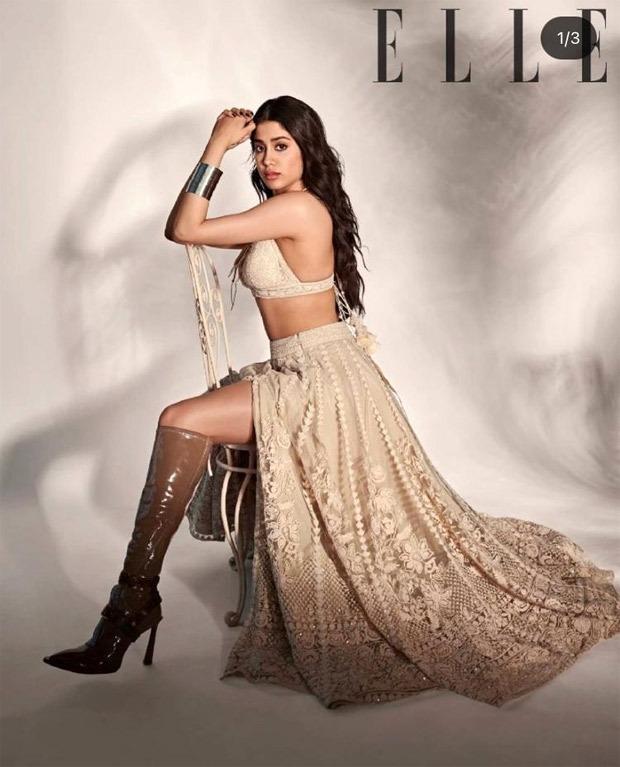 Janhvi Kapoor exudes elegance in floral thigh-high slit dress for Elle  India : Bollywood News   News Daily Network