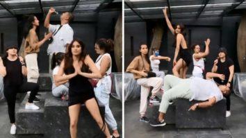 Janhvi Kapoor twerks in 'Temperature' challenge video with staff; Arjun Kapoor leaves hilarious comment