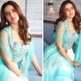 Jasmin Bhasin is a beauty in soft-hued blue lehenga with mirror designs