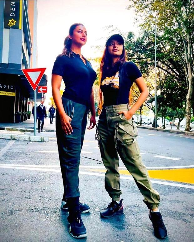 Khatron Ke Khiladi 11: Divyanka Tripathi and Anushka Sen twin in black tops and cargo pants in Cape Town