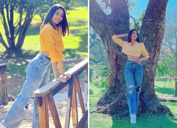 Khatron Ke Khiladi 11: Sana Makbul shares sunkissed pictures dressed in pastel yellow crop top and distressed denims