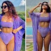 Khushi Kapoor sets the internet on fire in lavender bikini