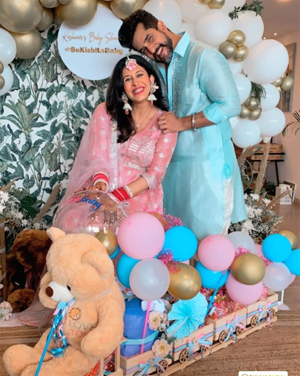 Kishwer Merchant stuns in pink sharara and lilac dress during her baby shower with husband Suyyash Rai