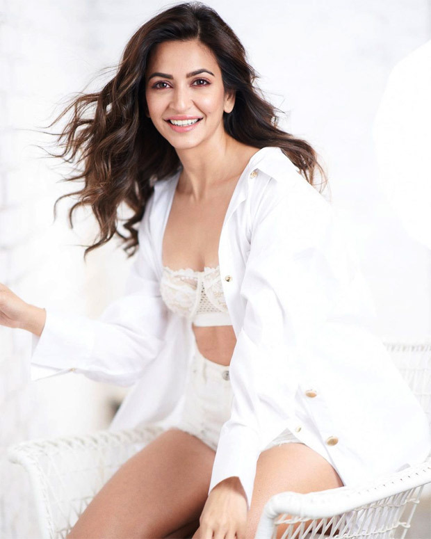 Kriti Kharbanda is a vision in all-white; dons lace white bralette with shorts and shirt