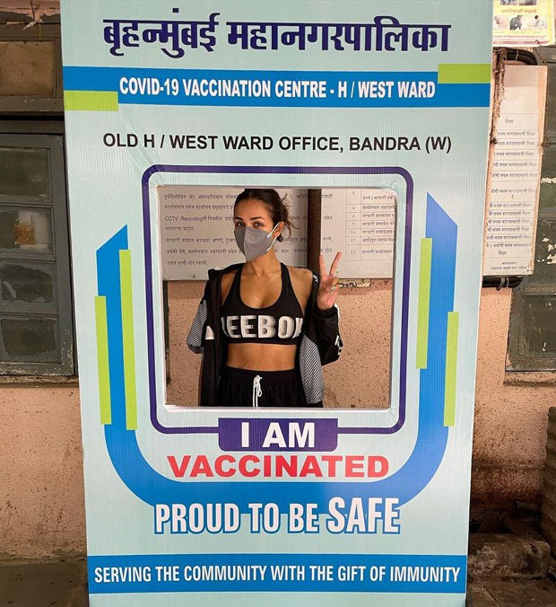 """Malaika Arora takes her second dose of vaccine, says """"I am going to be safe not just for myself but for you as well"""""""