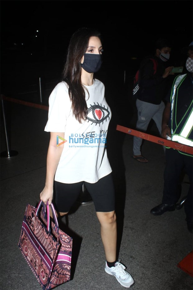 Nora Fatehi carries Rs. 2.2 lakh worth Dior tote bag at the airport