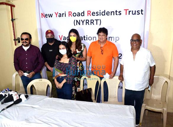 Photos Varun Sharma, Anushka Ranjan, Satish Kaushik and others snapped at vaccination drive campaign (1)