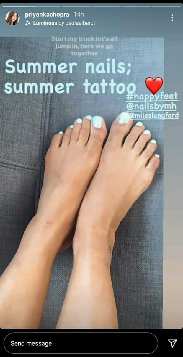Priyanka Chopra flaunts her new summer tattoo