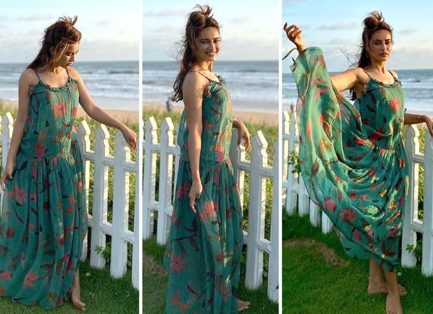 Qubool Hai actress Surbhi Jyoti looks eccentric as she flaunts her printed chiffon maxi dress worth Rs. 12,500