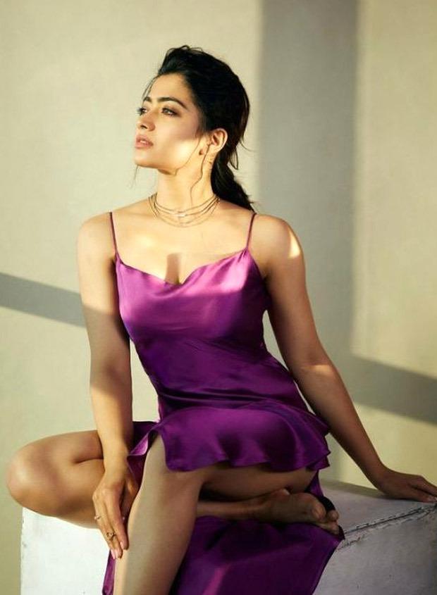 Rashmika Mandanna's romantic satin slip dress will spruce up your date night look