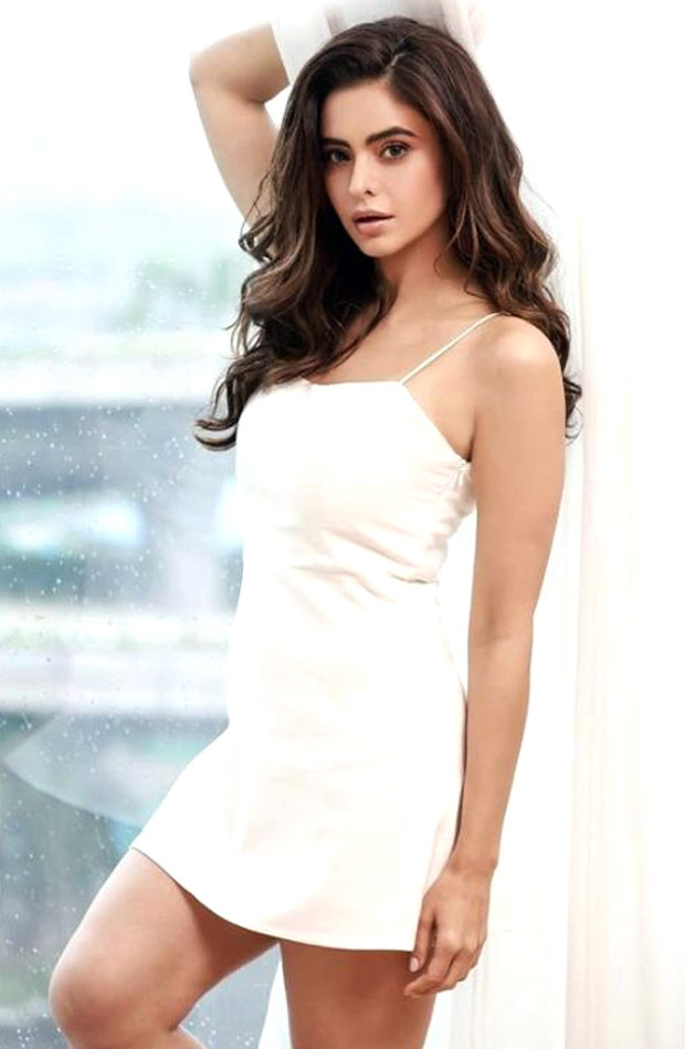 Aamna Sharif is a complete vision in white mini slip bodycon dress