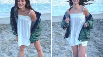 Ananya Panday has her Kaho Naa Pyaar Hai moment with herself; dons a white mini dress and bomber jacket