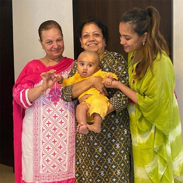 Anita Hassanandani shares her little boy Aaravv's mundan ceremony pictures
