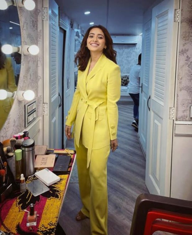 Asha Negi steals the spotlight in lime yellow pantsuit for Collar Bomb promotions