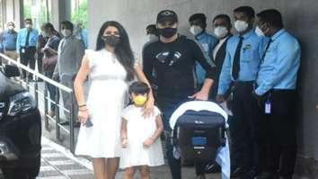 Geeta Basra, Hinaya, and Harbhajan Singh leave for home along with their newborn son