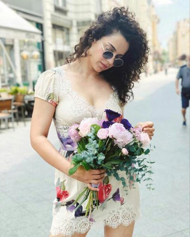 Kangana Ranaut dons off-white floral dress, says 'decided to play bolly bimbo' in her latest pictures
