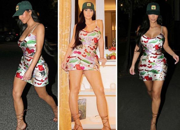 Kim Kardashian looks alluring in John Galliano cherry satin dress worth Rs. 1.34 lakh