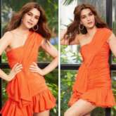 Kriti Sanon gets the weekend look right with her popping orange look!
