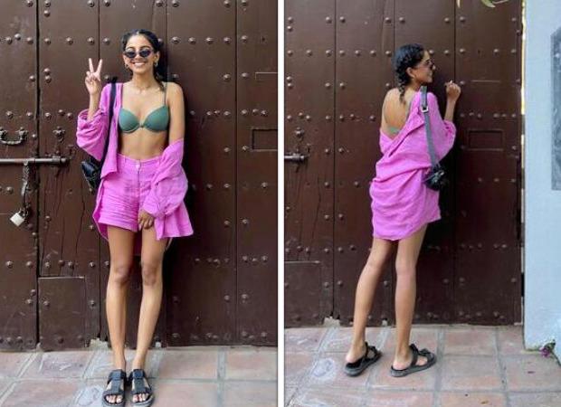 October actress Banita Sandhu raises the temperature in olive green bikini