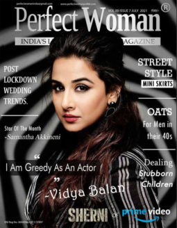 Vidya Balan on the cover of Perfect Woman, July 2021