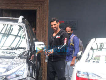 Photos: John Abraham spotted at the gym