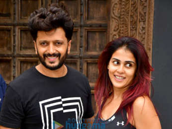 Photos: Riteish Deshmukh and Genelia D'Souza spotted at gym in Bandra