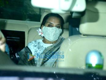 Photos: Shabana Azmi arrive at Dilip Kumar's residence to pay their last respects