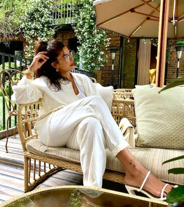 Priyanka Chopra looks like a vision in white co-ord set whilst strolling in London